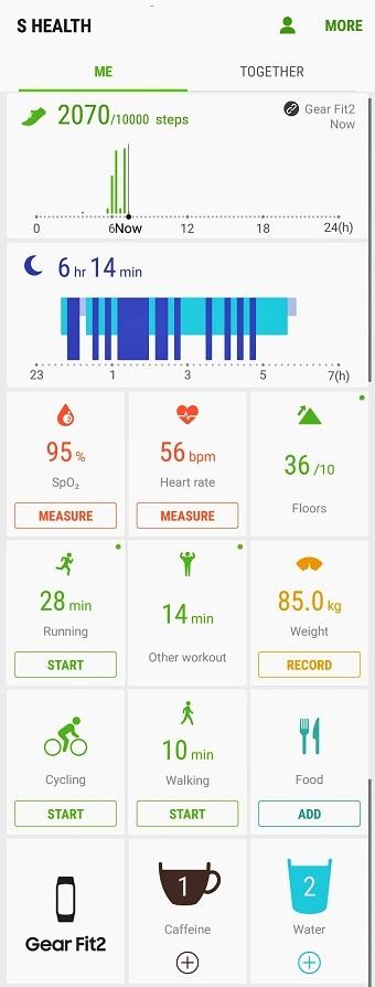 Samsung S Health aplikacija