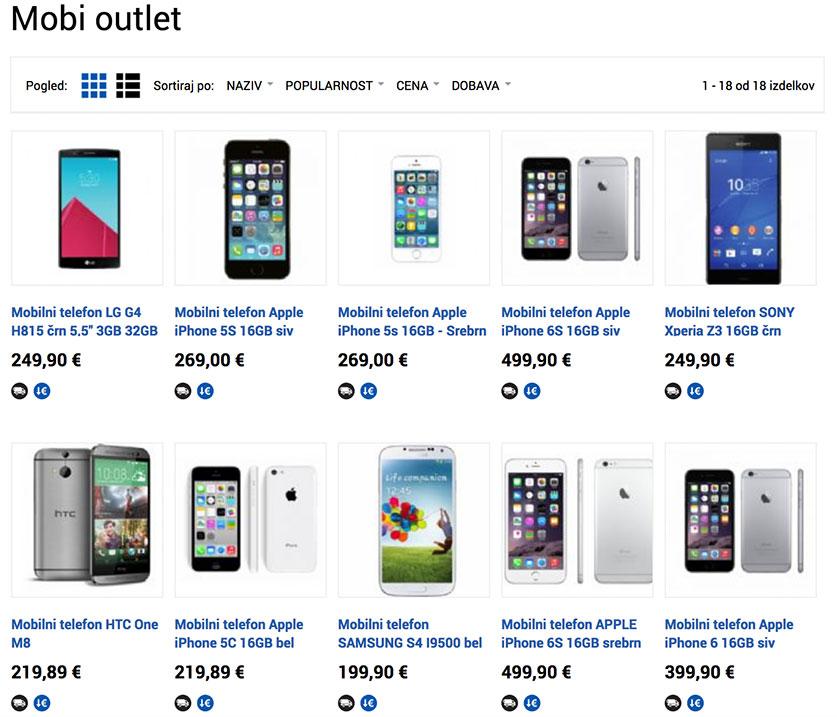 Na novo odprti Mobi outlet v spletni trgovini enaA ponuja številne uspešnice zadnjih let po najnižji ceni in z brezplačno dostavo.