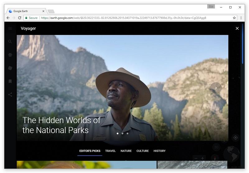 Z novo različico lahko potešite raziskovalca v sebi in obiščete številne prečudovite kraje tudi prek videov.