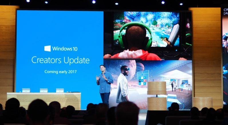 Creators Update prinaša kar nekaj novosti, začenja se tudi širša podpora za 3D in VR. Vir: The Next Web